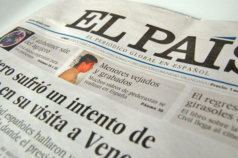 Spaanse Krant Lezen Leer Spaans